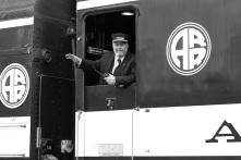 Alaska railroad conductor