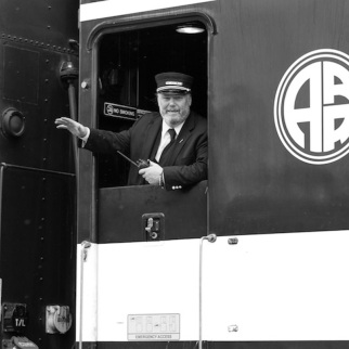 Alaska railroad conductor