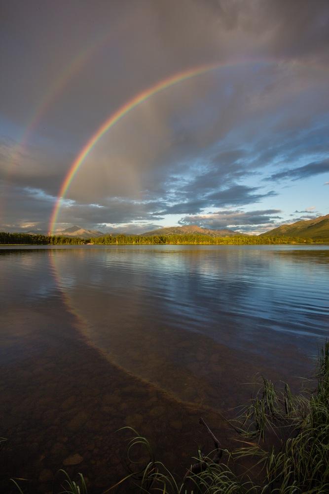 Rainbow at Otto Lake Alaska