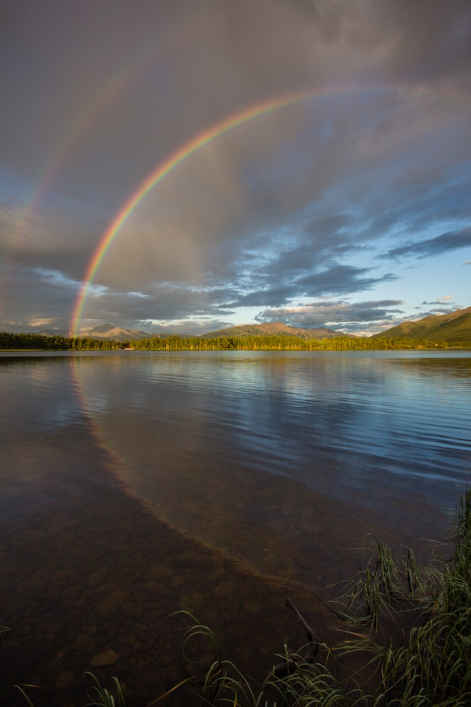 Rainbow at Otto Lake Alaska