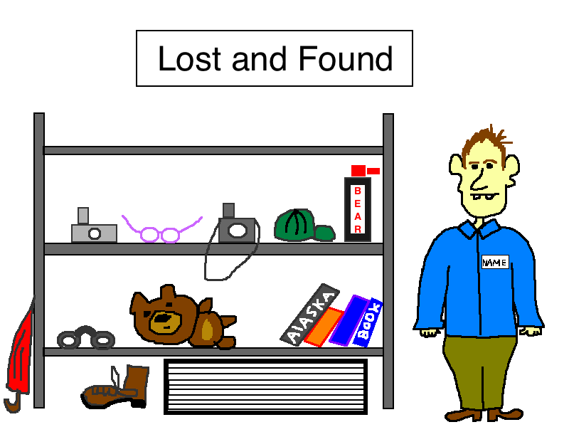 Bear Spray lost and found cartoon