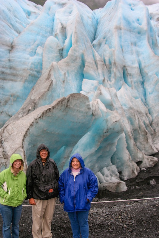 Bell family at Exit Glacier