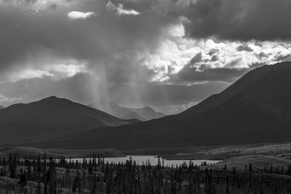 Rain shaft over the Susitna River
