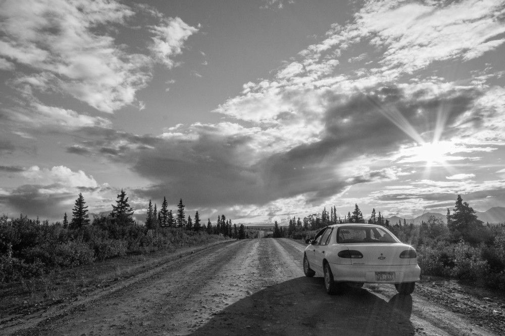 Car on Denali Highway