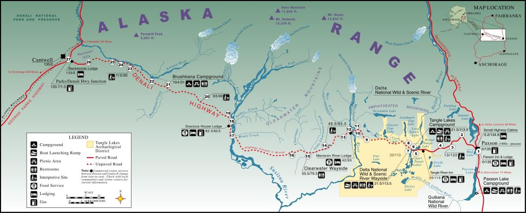 BLM Denali Highway Map