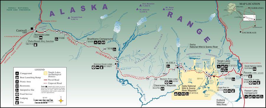 BLM Denali Highway Map