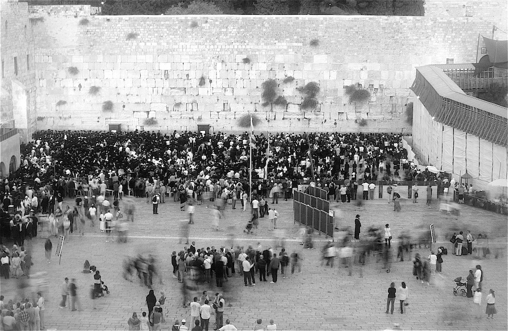 Wailing Wall in black and white