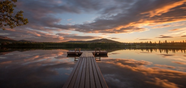 Otto Lake Sunset WIth Pier