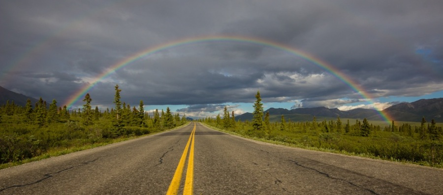 Rainbow over the Denali Park Road