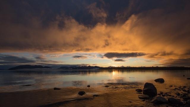 Dramatic Sunset at Glacier Bay