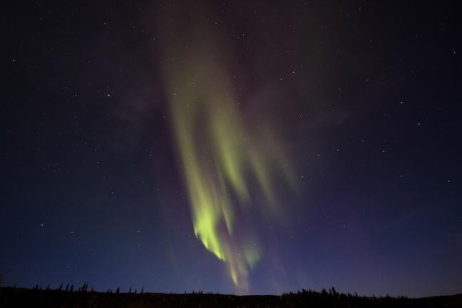 Aurora over parks highway