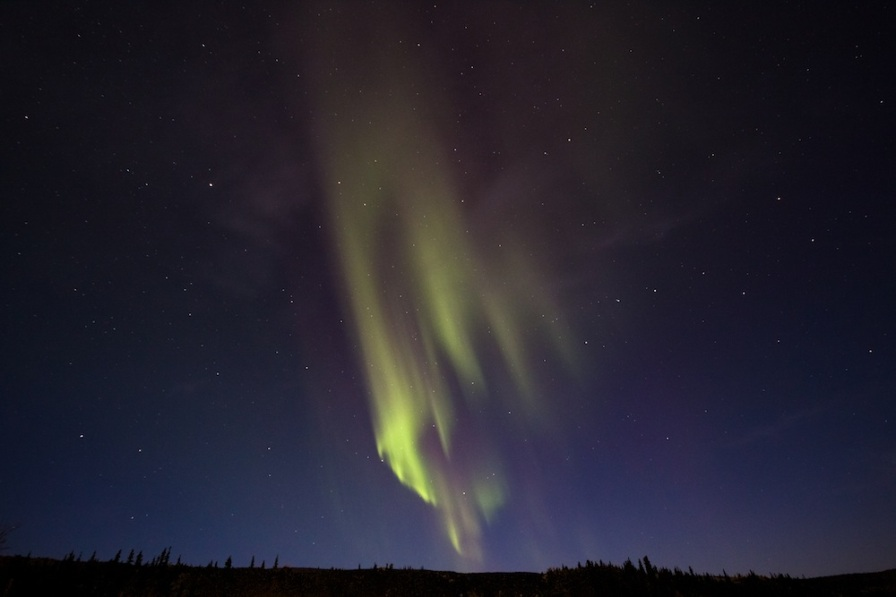 Aurora over parks highway