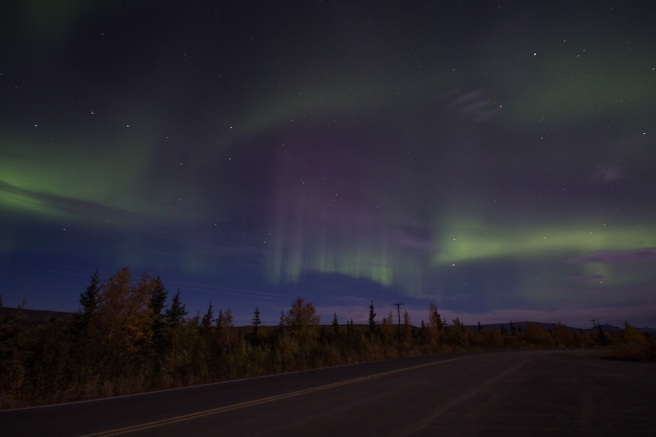 Awesome aurora on Stampede road