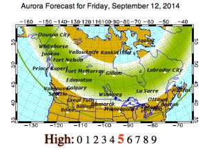 Aurora Forecast, Sept 12, 2014