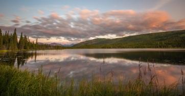 secret lake Denali Sunset