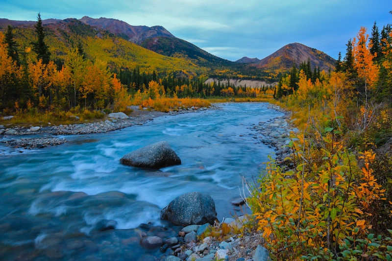 Riley Creek in the fall.