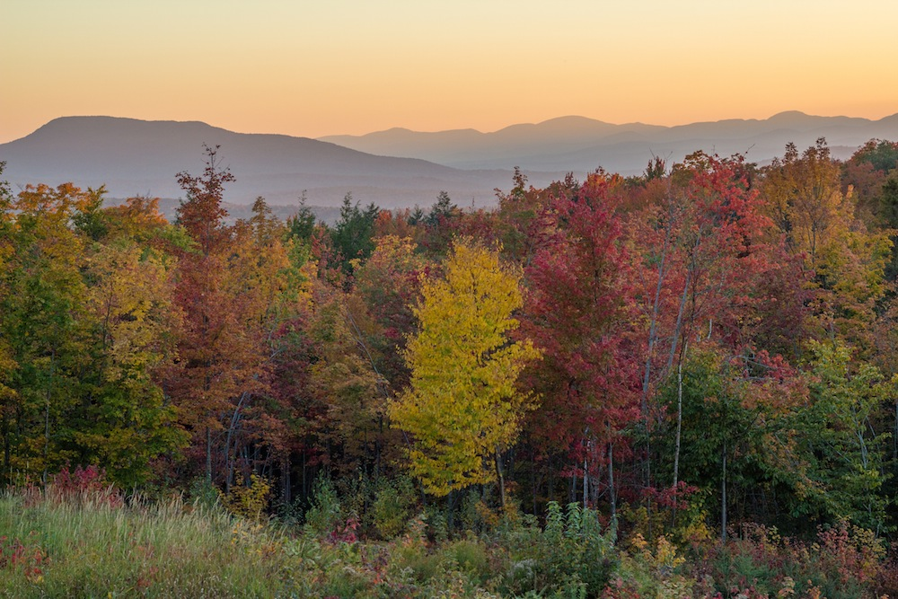 Autumn Sunset in Vermont