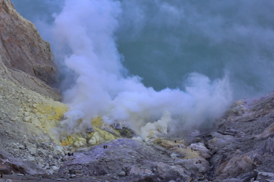 Ijen Volcano sulfur