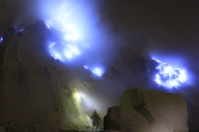 The Blue Flames and Badass Miners of Ijen Volcano