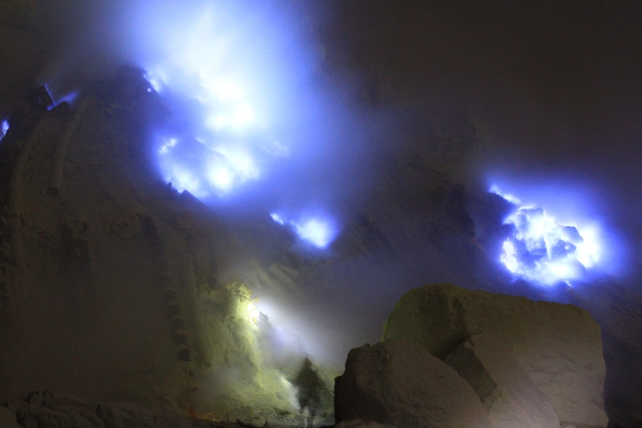 Bad Ass Miner at the Ijen Volcano.