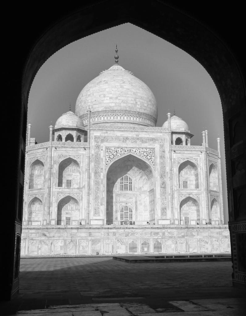 Taj Mahal in Black and White