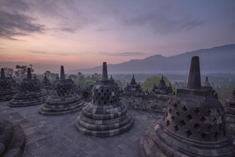 Sunrise at Borobudur