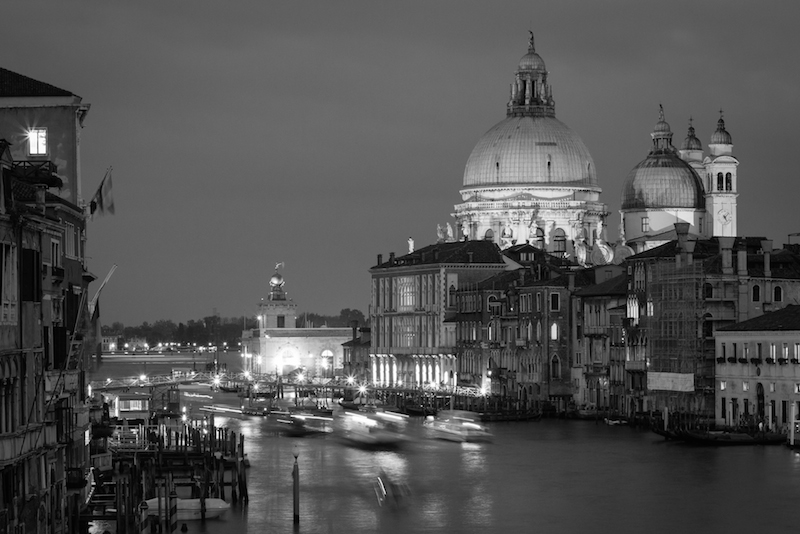 Venice Italy Black and White