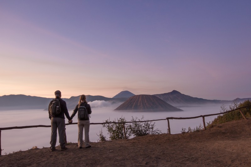 Sunrise over Bromo Bells