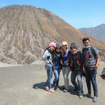 Indonesians on Bromo