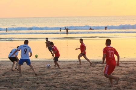 Football players on Kuta Beach