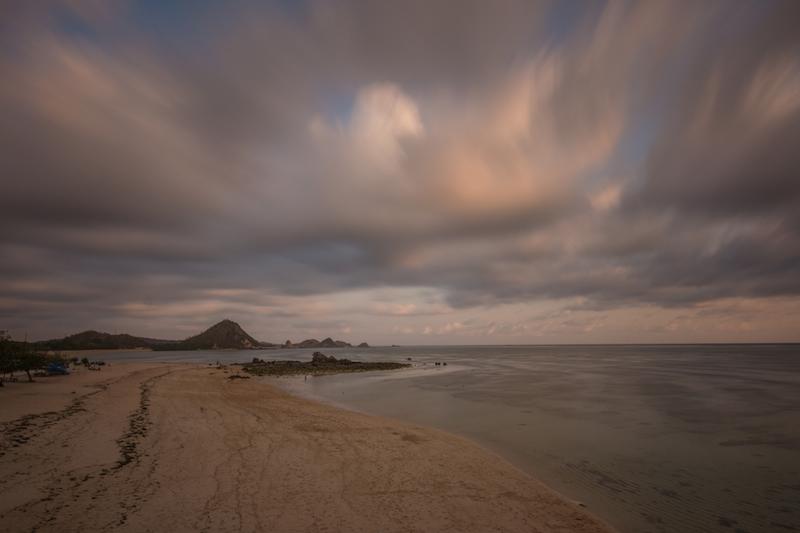 Sunset at Kuta Beach in Lombok