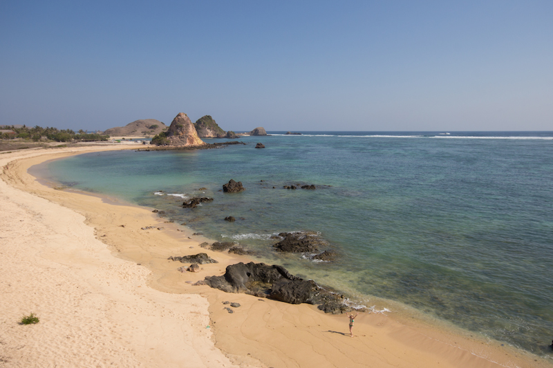 Deserted Beach by Kuta Lombok