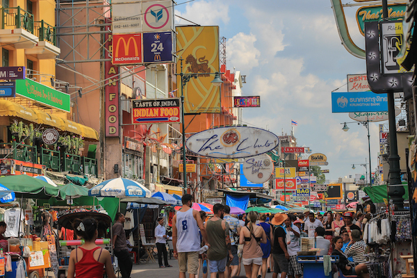 Khao San Road signs