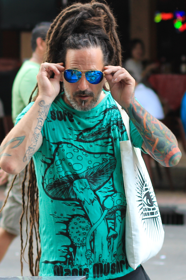 Cool dude with dreds and tats