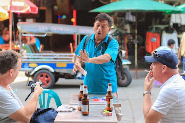 Khao San Road Street magician