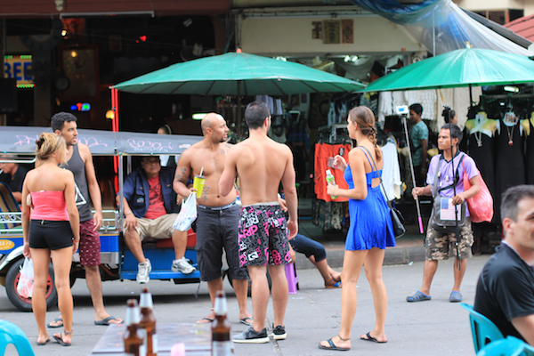 Topless tourists Bangkok