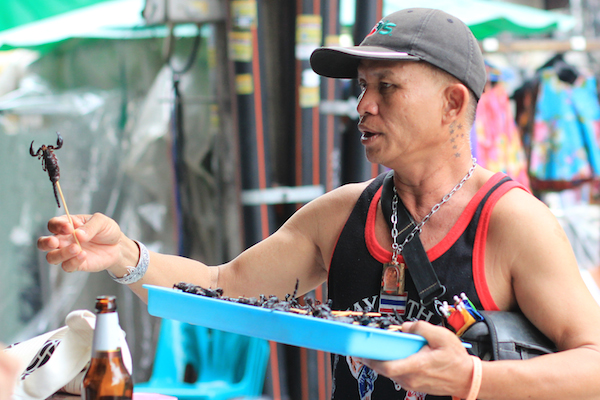 scorpion vendor Bangkok