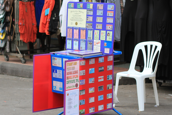 Fake IDs for sale on Khao San