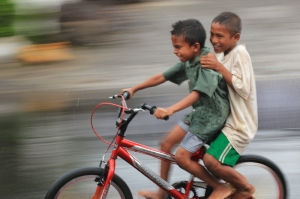 Boys on a bike