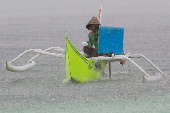 Pantai Bira rain