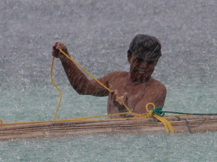 Pantai Bira Fisherman in the Rain