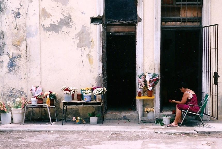 Flower Vendor in Cuba