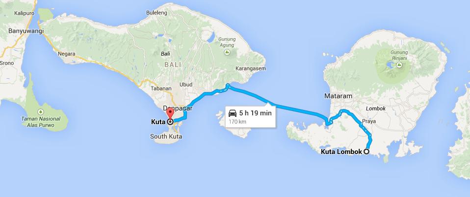 Kuta Bali and Kuta Lombok