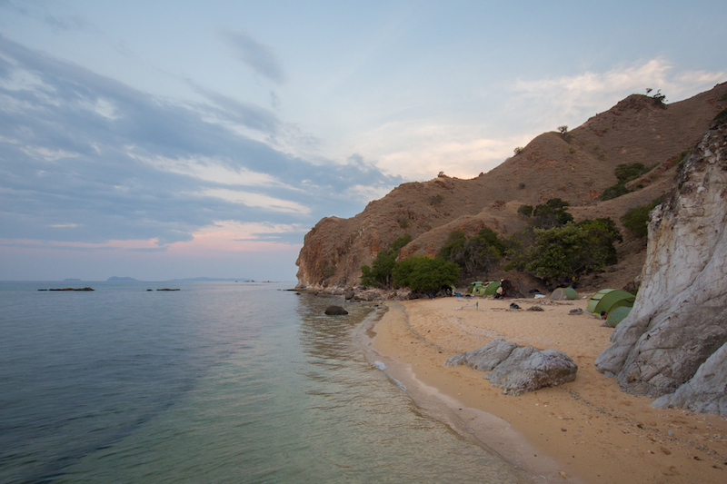 Campsite on Komodo