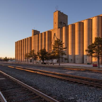 Grain Elevator in Woodward