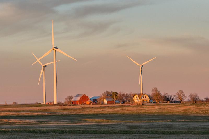 Farmscape near Weatherford, Oklahoma