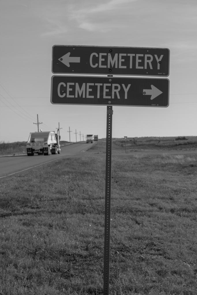 Cemetery Cemetery Sign
