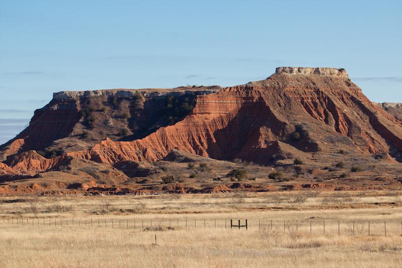 The Gloss Mountains Oklahoma
