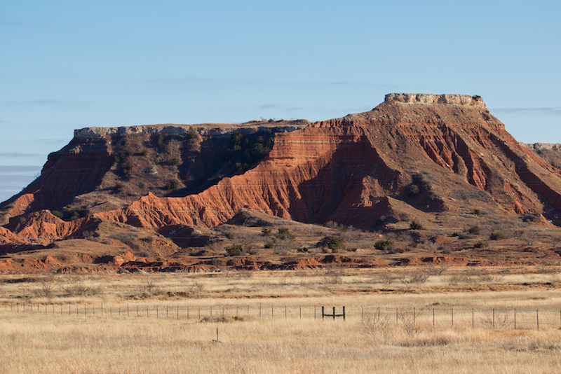 The Gloss Mountains Oklahoma