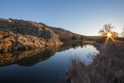 Pond in the Wichita Mountains near Elk Mountain